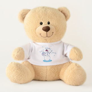 Snowlady Skating Party Teddy Bear