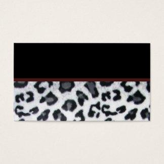 snowleopard with black trim business card