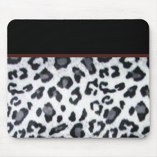 snowleopard with black trim mouse pad