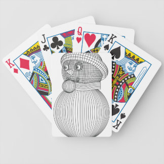 snowman-2 bicycle playing cards