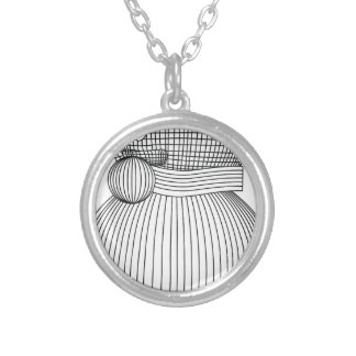 snowman-2 silver plated necklace