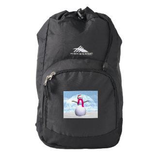 Snowman - 3D render Backpack