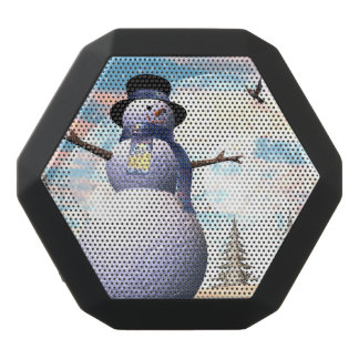 Snowman - 3D render Black Bluetooth Speaker