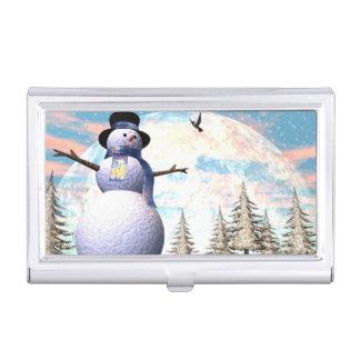 Snowman - 3D render Business Card Holder