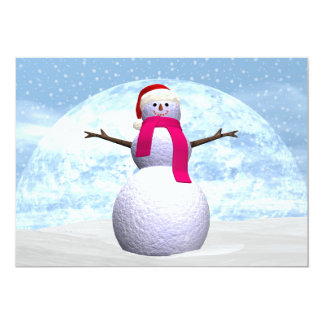 Snowman - 3D render Card