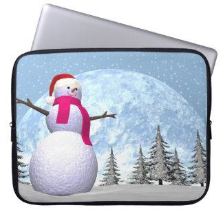 Snowman - 3D render Computer Sleeve