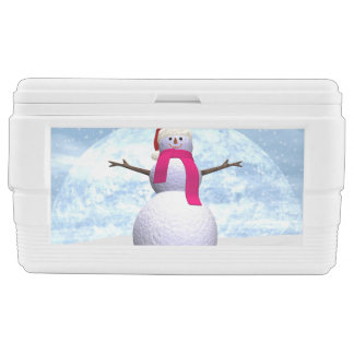 Snowman - 3D render Cooler