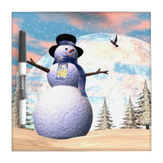 Snowman - 3D render Dry Erase Board