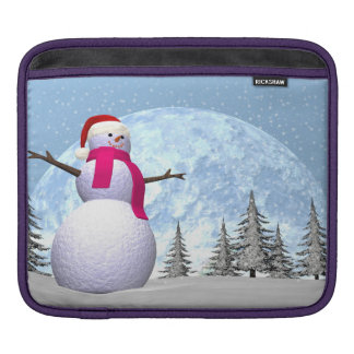 Snowman - 3D render iPad Sleeve