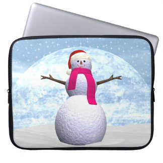 Snowman - 3D render Laptop Computer Sleeve