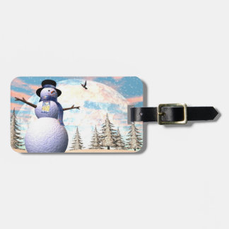 Snowman - 3D render Luggage Tag