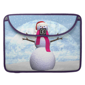 Snowman - 3D render MacBook Pro Sleeves