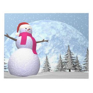 Snowman - 3D render Notepad
