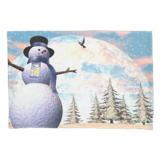 Snowman - 3D render Pillowcase