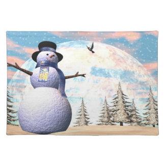 Snowman - 3D render Placemat
