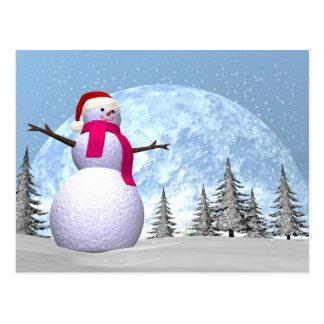 Snowman - 3D render Postcard