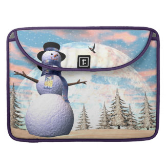 Snowman - 3D render Sleeve For MacBook Pro