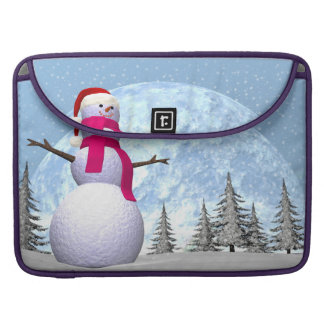 Snowman - 3D render Sleeves For MacBook Pro