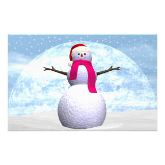 Snowman - 3D render Stationery