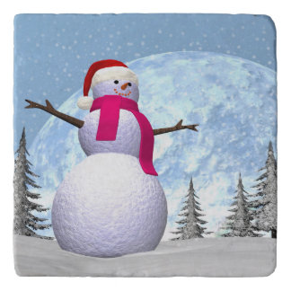 Snowman - 3D render Trivet