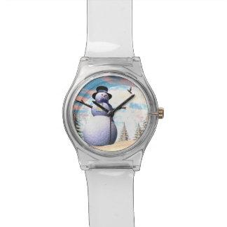 Snowman - 3D render Wrist Watch