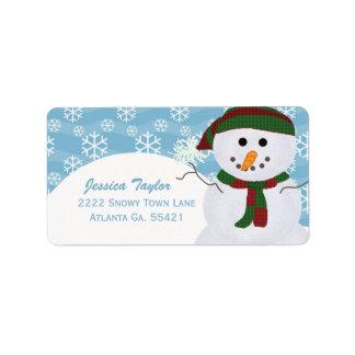 Snowman Address Labels