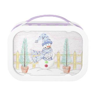 Snowman again purple kid Yubo lunch box
