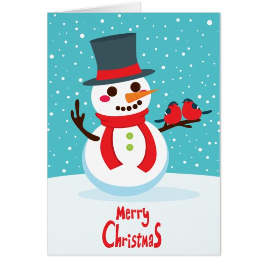 Snowman and Birds Card
