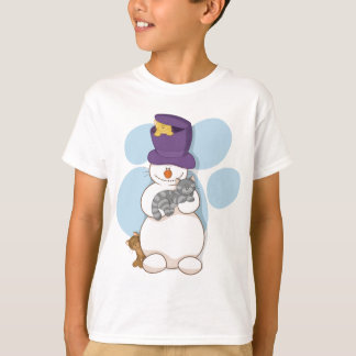 Snowman and cats t-shirt