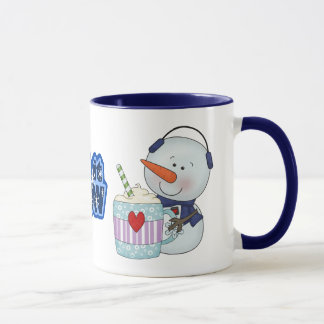SNOWMAN AND COCOA MUG COFFEE MUG