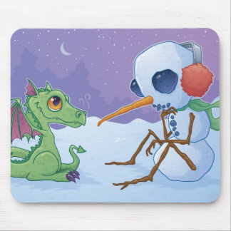 Snowman and Dragon Mousepad