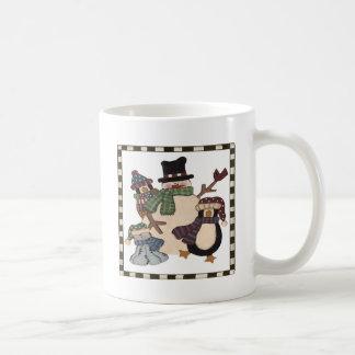 Snowman and Friends Coffee Mug