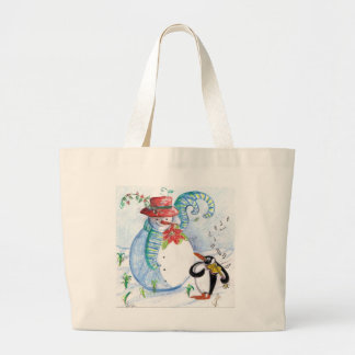 SNOWMAN AND PENGUIN'S WINTER SERENADE BAGS