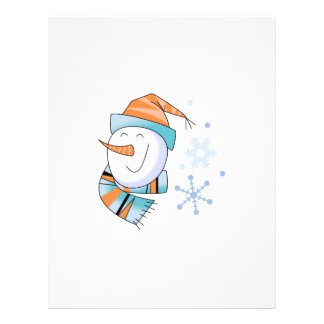 Snowman and Snowflakes Letterhead Design