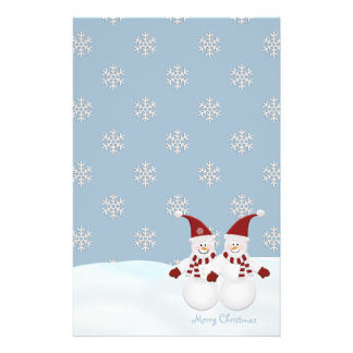 Snowman and Snowflakes Stationary Stationery Paper