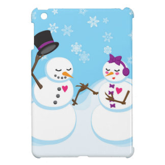 Snowman and Snowgirl Romance Case For The iPad Mini