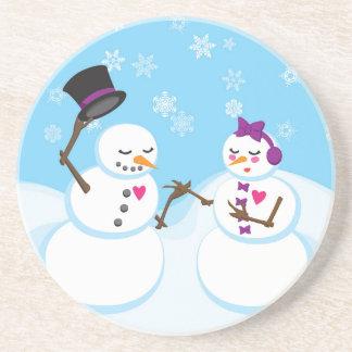 Snowman and Snowgirl Romance Coaster