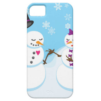 Snowman and Snowgirl Romance iPhone 5 Case