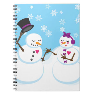 Snowman and Snowgirl Romance Notebook