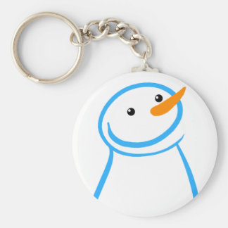 Snowman and Steve Sketch Keychain