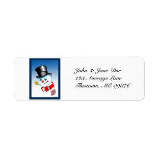 Snowman Avery Return Address Label