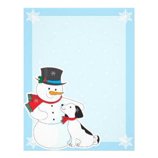 Snowman Background Letterhead