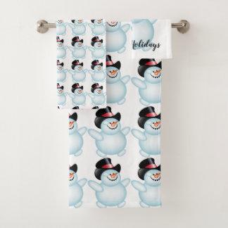 Snowman Bath Towel Set
