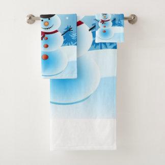 Snowman Bathroom Towel Set