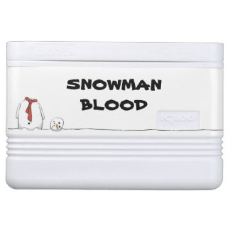 Snowman Blood igloo cooler