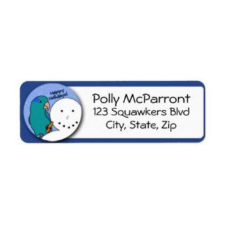 Snowman Blue Parrotlet
