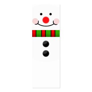 Snowman Bookmark Mini Business Card