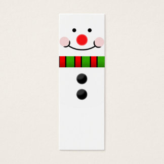 Snowman Bookmark Mini Business Card