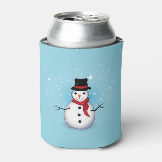 Snowman bottle/can cooler