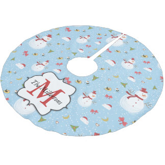 Snowman Brushed Polyester Tree Skirt